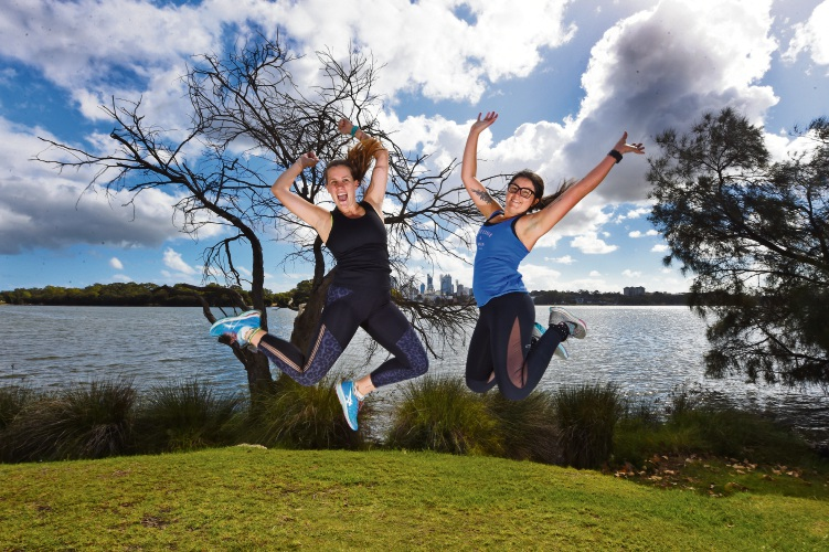 Kelsey Atkinson and Jordina Quain are inviting more ladies to get involved in For the Every Woman fitness sessions. Picture: Jon Hewson