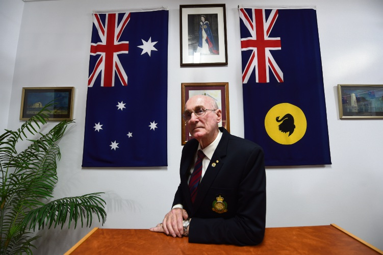 City of Belmont RSL president Alan Richardson believes serving his country taught him about mateship. Picture: Jon Hewson d481817