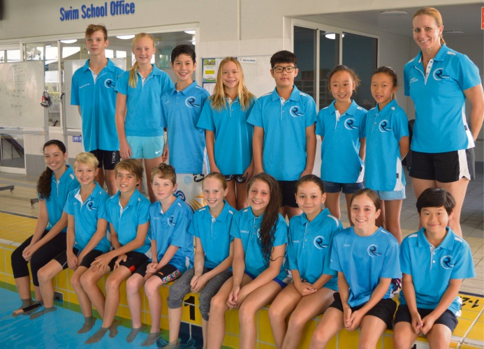The Riverton Aquanauts team that competed at the Junior State Championships.