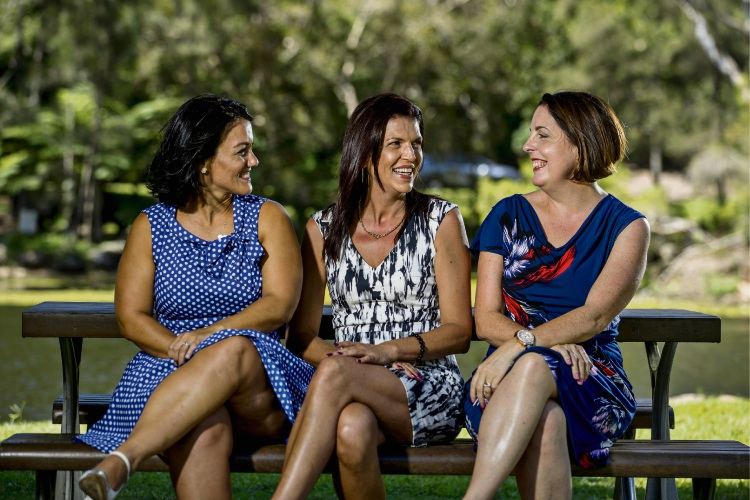 Friends with Dignity chief executive, founder and director Manuela Whitford, director and chief operating officer Zoe Scharenguivel and director and chief financial officer Julia McKenna.