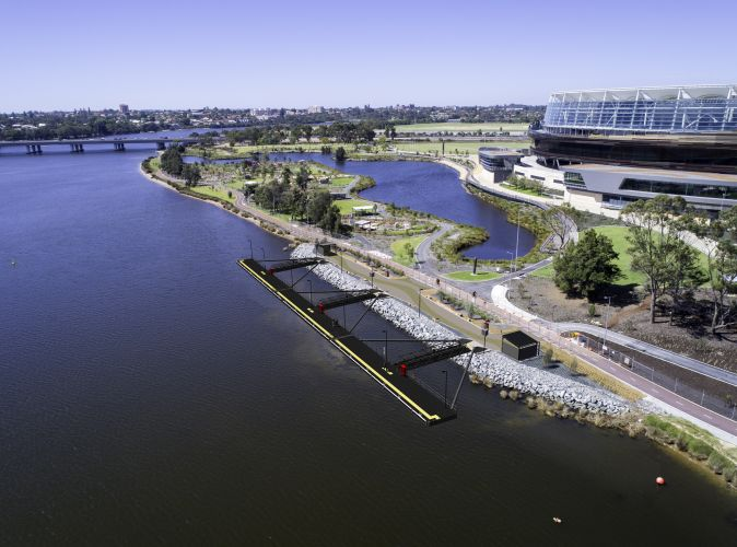 What the new Burswood jetty will look like.