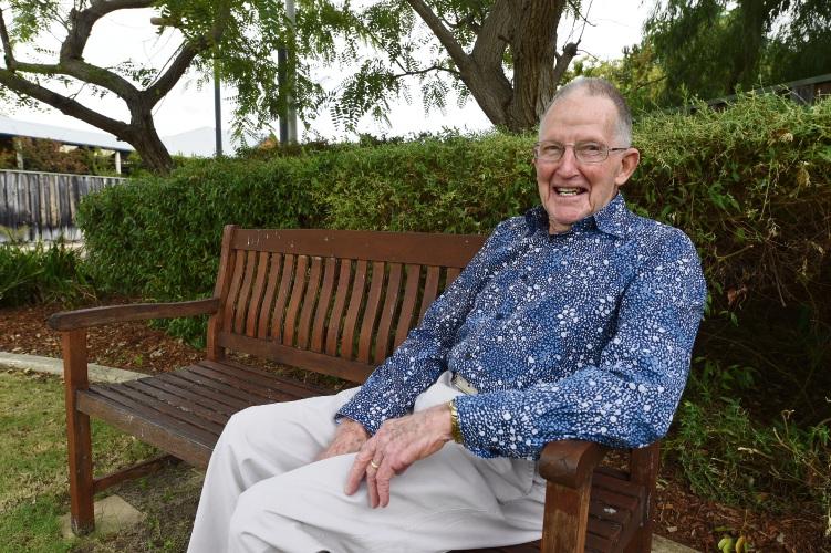 Ken Adams at home in Mandurah.