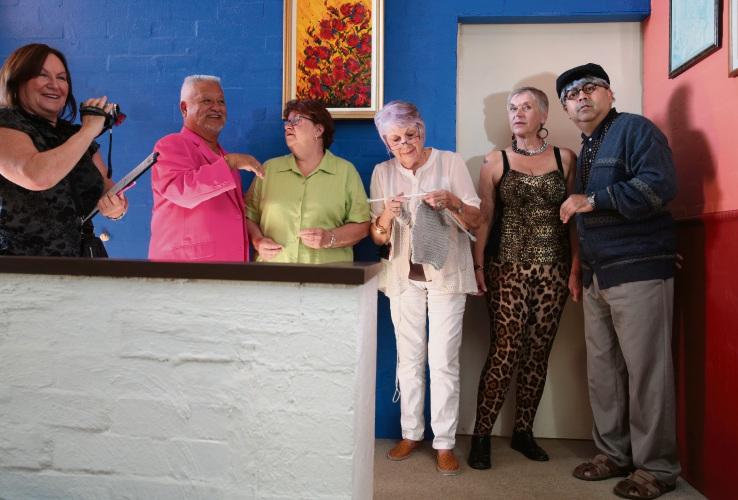 Sharon Jones (Sinagra), Ronnie Jones (Hamersley), Christine Evans (Kallaroo), Maggie de Mamiel (North Beach), Denise Mignon (Duncraig) and Clyde Goodenough (Ballajura). Photo: Martin Kennealey