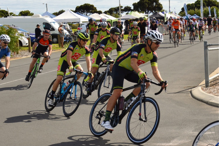 Northern Beaches Cycling Club members took part in the Delirium 24HR event. Picture: Kirsten Van Riel