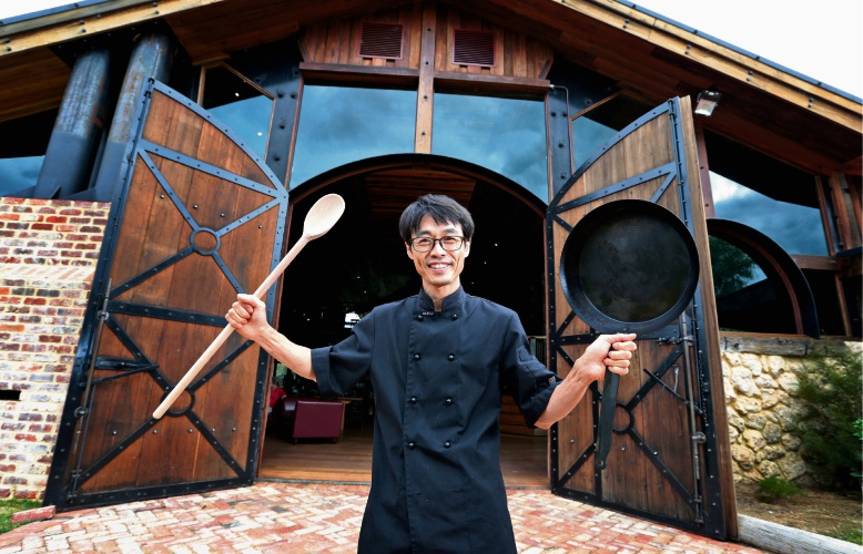 Han Moon, head chef at The Wild Goose Cafe in Gidgegannup. Picture: David Baylis www.communitypix.com.au d481781