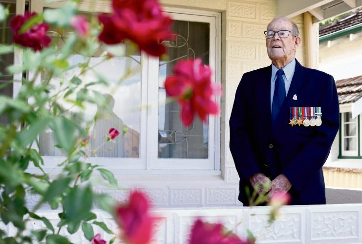 Charlie Schofield is a 94 year old war veteran. Picture: Matt Jelonek d481933