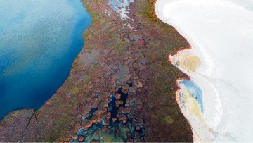 Peel Region's wetlands and waterways captured from above