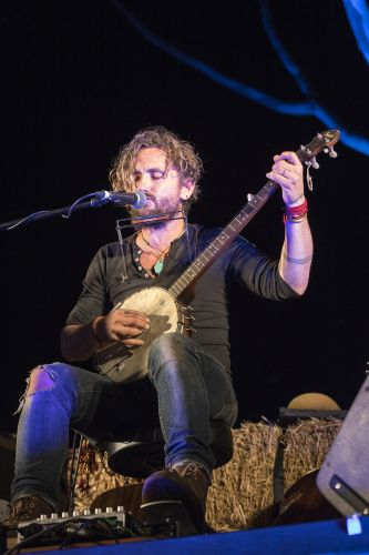 John Butler performed to a grateful crowd at Music on the Murray. Picture: Roz D'Raine