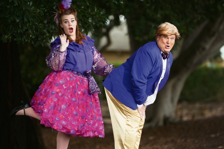 Belinda Cox (Joondanna) and David Cosgrove (Karrinyup) as the Duke and Duchess of Plaza-Toro in The Gondoliers. Picture: Andrew Ritchie d481822