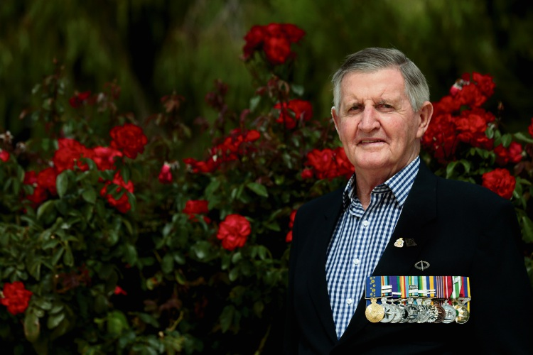North Beach RSL sub-branch member Mike Ruffin.