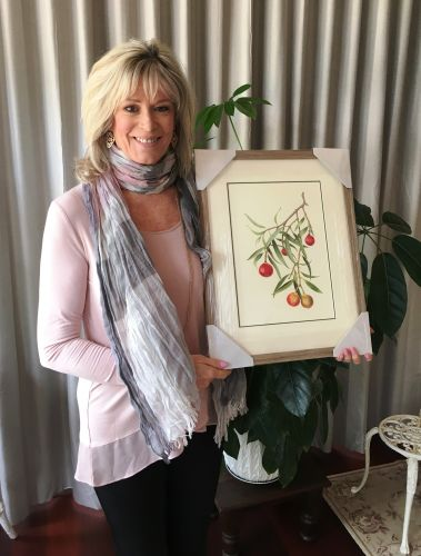 Vicki Lee Johnston with the watercolour selected for a global botanical art exhibition.