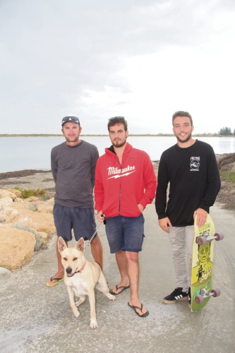 Residents Sam Peters, Shane Mazoue and Jake Cotchin all said the problems had been ongoing for months. Mr Cotchin who found a dead baby dolphin while kite surfing about a month ago believed it was linked to the poor conditions in the area.