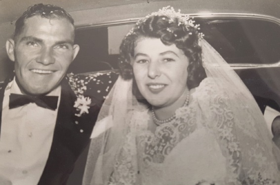 Eric and Rosalyn Hahn on their wedding day.