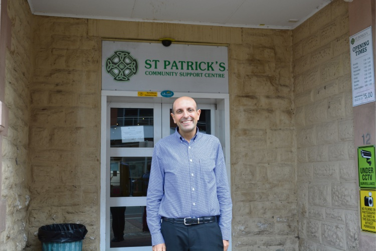 Michael Piu outside of St Patricks Community Centre Fremantle.