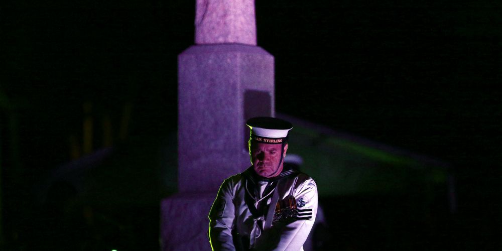 Wanneroo RSL Dawn Service. Picture: Martin Kennealey d482058