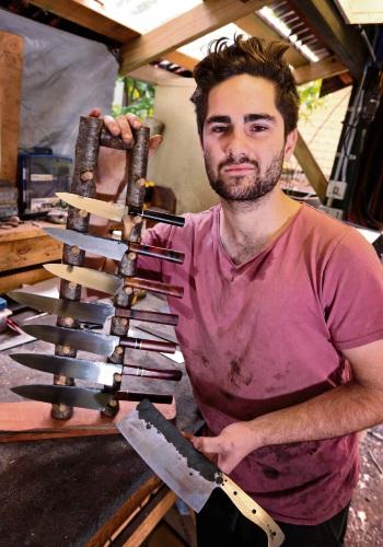 Flynn Sharp of Darlington at work in his workshop. Pictures: David Baylis d481779