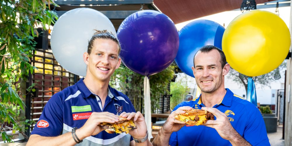 Fremantle captain Nat Fyfe and West Coast counterpart Shannon Hurn take their rivalry off the field in the battle of the sanga.