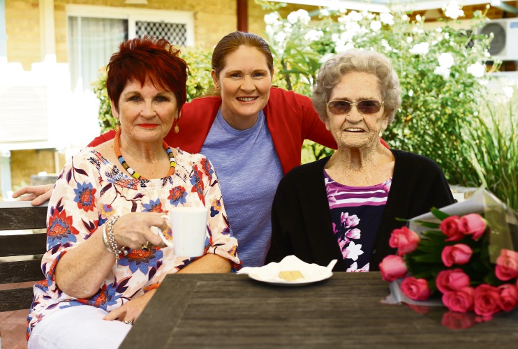 Marie Hastings, Siobhan Farrell and Pearl Corcoran will celebrate Mother's day with one of their regular catch-ups. Picture: Matt Jelonek.