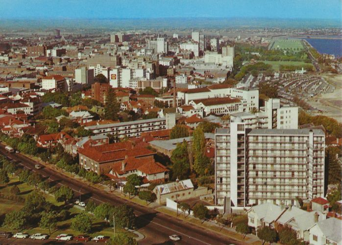 This postcard, from 1967, was taken from Dumas House in West Perth and shows Perth in the days before a freeway and highrise were significant elements of our city. It's one of hundreds of historic postcards that will be on public display this weekend.