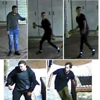 The four men police want to talk to over the Smart St Mall incident.