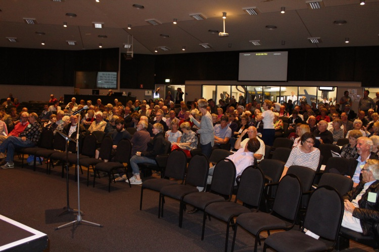 Hundreds again packed the Mt Pleasant Baptist Community College for a Special Meeting of Electors on Thursday.