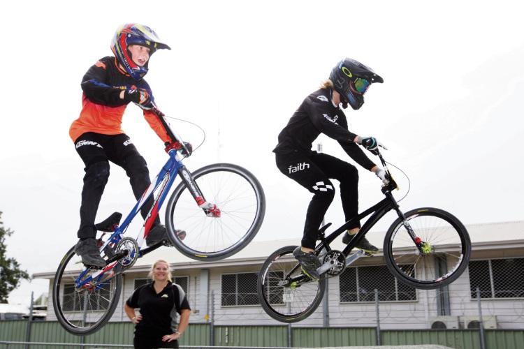 Blade, Michelle & Steele Cherubino Picture: Bruce Hunt www.communitypix.com.au   d482173e