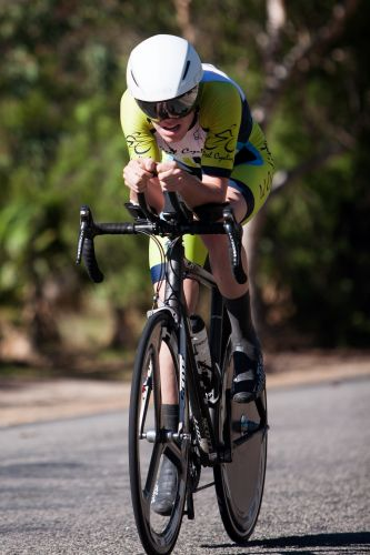 Jordan Dawson raced his first 40km time trial and set the fastest time.