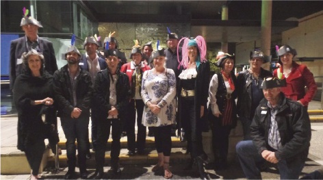 Some of the members dressed up for the annual general meeting.