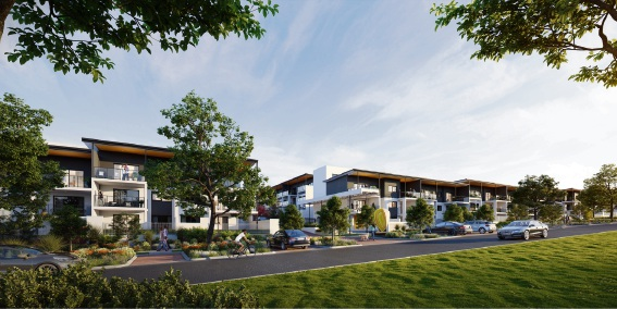 An artist's impression of Palmyra Apartments Estate.