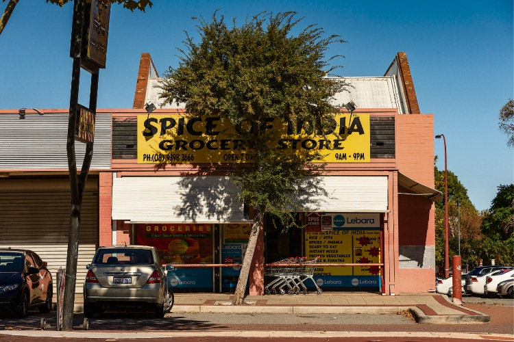 The Spice of India store where the assault occurred.