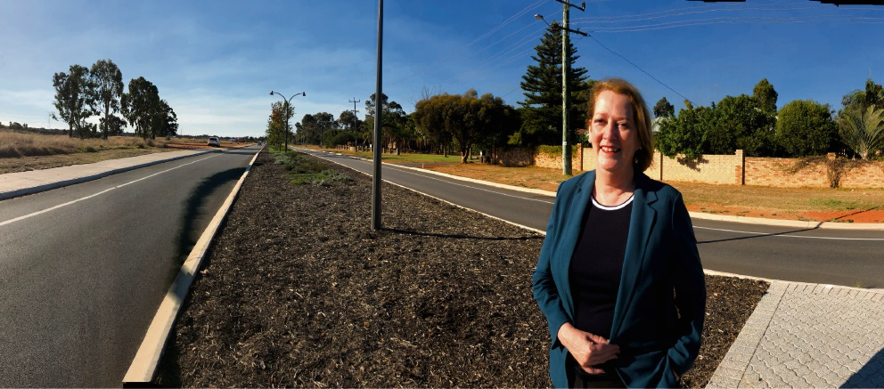 Michelle Roberts has successfully lobbied for road safety improvements for Farrall Road residents.