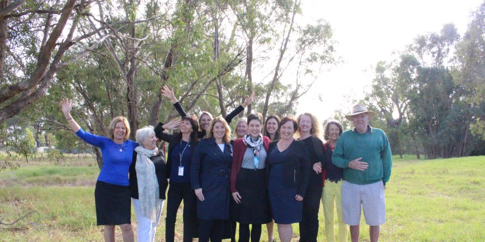 Lands Minister Rita Saffioti and Belmont MLA Cassie with Ascot residents, who are welcoming the State Government's decision to save a piece of land near Garvey Park.