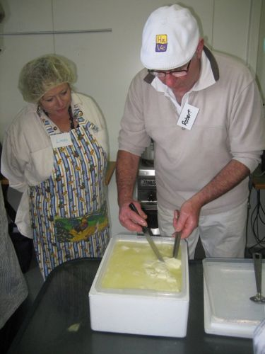 Gourmet cheese-making demonstration with Robert St Duke. Picture: Supplied