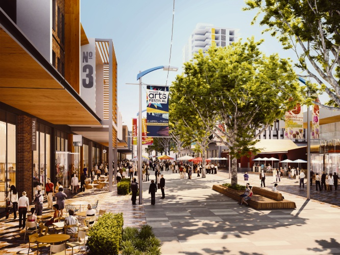 An artist's impression of a redeveloped Armadale city entre.