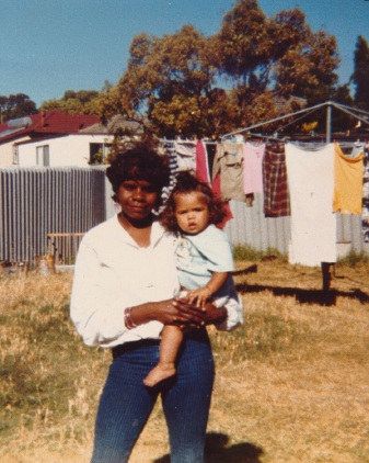 Ruby Wallam and daughter Bianca, circa 1950s. Picture: Kwinana Public Library Local History Collection
