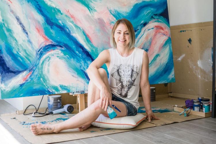 Alkimos artist Sarah Malone.