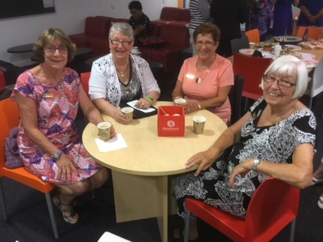 Soroptimist International Joondalup member Jeanette Brown, Fremantle member Annie Carswell, Joondalup member Claire Parry and Fremantle's Beatrice Hitt.