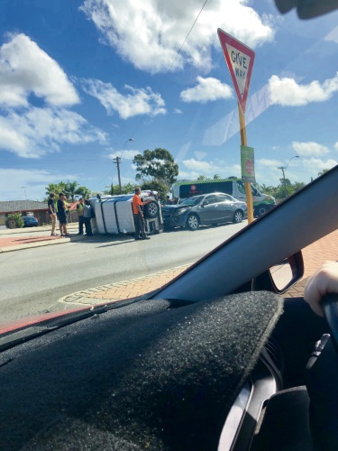 The crash last month at the corner of Elliot Road and Wanneroo Road.