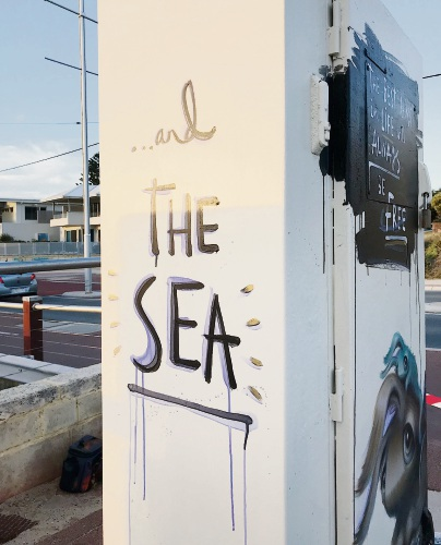 Artist Hayley Welsh has given a Water Corporation cabinet in Marmion a facelift.
