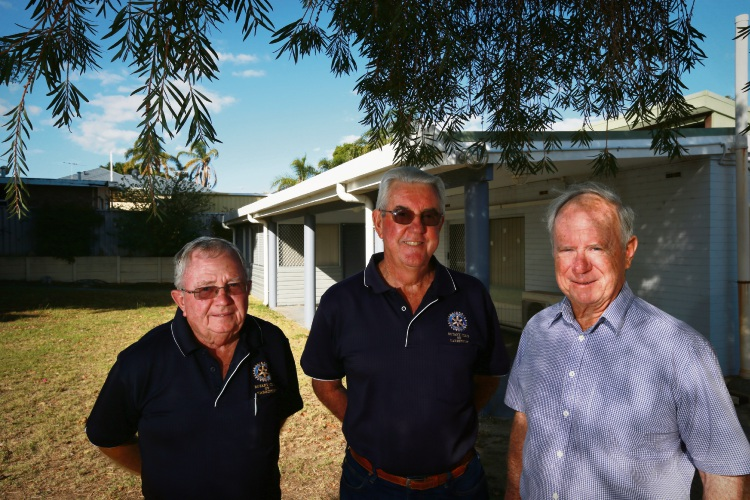 Ross Daniel (Rotary of Karrinyup and Steering Committee), Tony Strickland (Steering Comittee) and Peter Polain (Rotary of Karrinyup and Steering Committee). Picture: Andrew Ritchie d482454