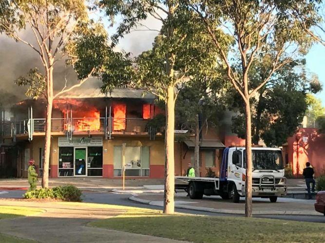 Fire broke out at an Ellenbrook tanning salon.Pic: Peter Hitch