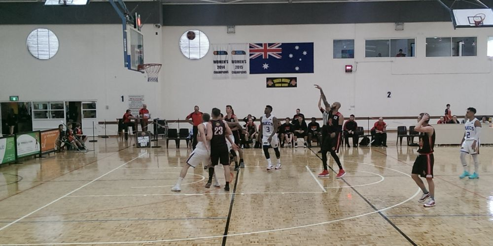 Curtis Washington sinks a free throw in the Flames 99-63 loss to Geraldton.