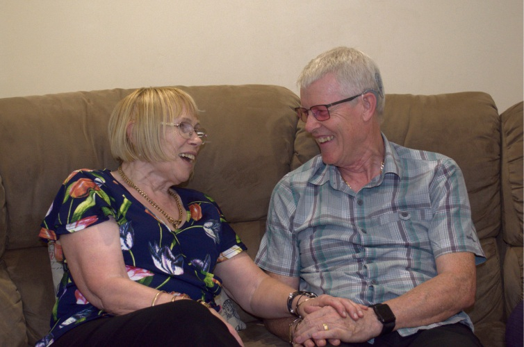 Jean Holsgrove with husband and cochlear implant recipient John Holsgrove.