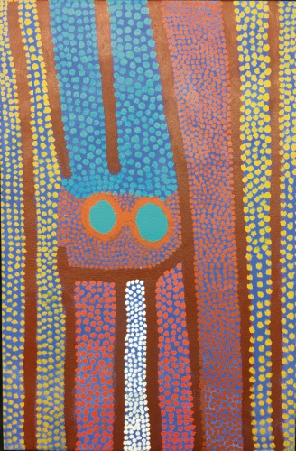 Edgar Pike's Japirnka, acrylic on canvas, 69cm x 45cm, 2008. Picture: Supplied