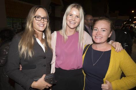 Lucina Jones, Montana Hall and Fiona Lindsay.