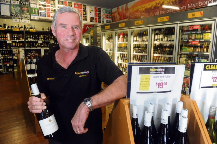 Claremont Liquor Barons operator Bernard Hubbard sees a greater role for local shopping. Picture: Jon Bassett