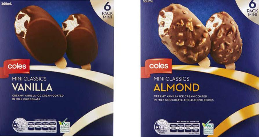 Coles recalls mini ice-creams over fear of metal fragments
