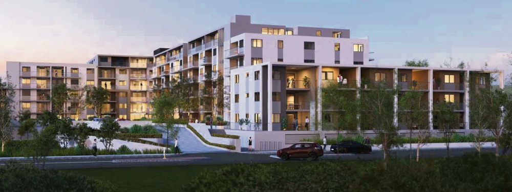 An artist's impression of the apartment building.