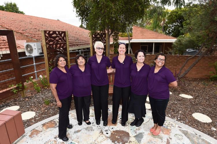 Armadale Health Service's Boodjari Yorgas Midwifery Group Practice: Christine Parry, left, Eunice Vynder, Jackie Moore, Lauren Turner, Deborah Giles and Patricia Van Der Togt. Picture: Jon Hewson.