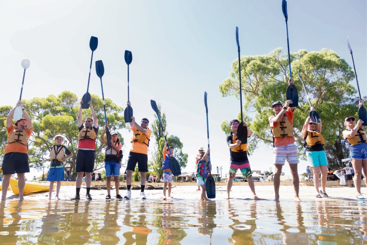 Paddling is among the activities on offer at the new Festival of Movement.